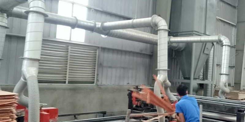 Hệ thống hút bụi xưởng gỗ sử dụng quy trình khép kín