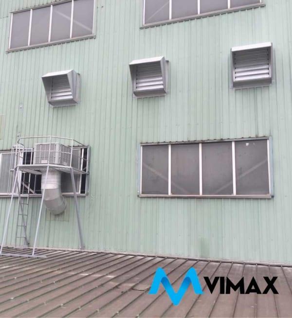 Hệ thống thông gió sử dụng quạt gắn tường