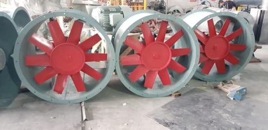 Quạt hướng trục công suất lớn thông thông gió cho tầng hầm