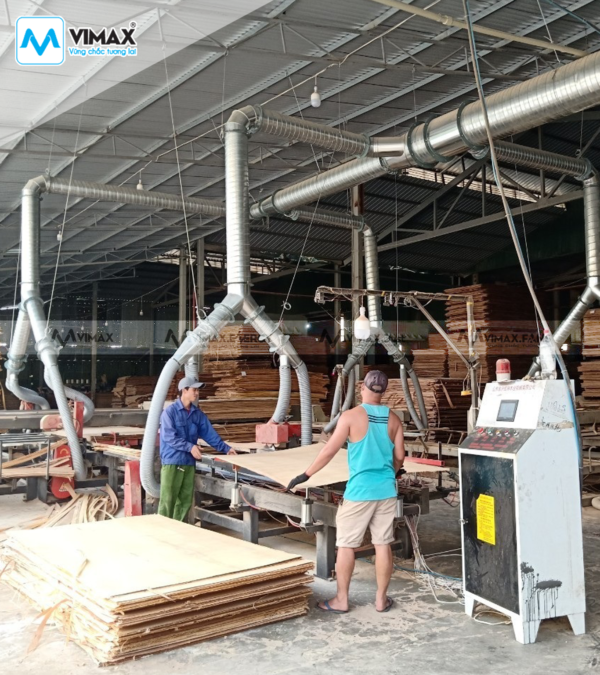 Hệ thống hút bụi gỗ ván plywood